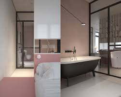 Pastel Bedroom Colors Open Plan Bedroom And Bathroom Complementary Colors And Fixtures