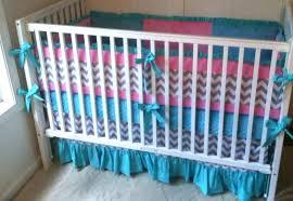 chevron crib bedding teal and