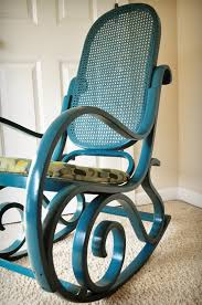 wood rattan rocking chair