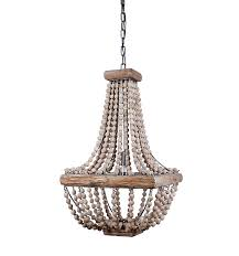 metal and wood chandelier. Amazon.com: Creative Co-Op Metal Chandelier With Wood Beads, 16.5\ And G