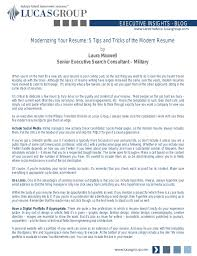 What To Put On Modern Resume Modernizing Your Resume 5 Tips And Tricks Of The Modern Resume