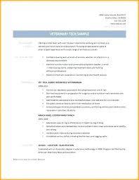 Veterinary Resumes Sample Vet Tech Resume Blaisewashere Com