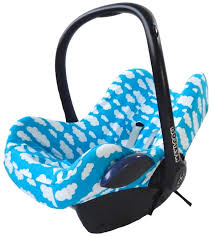 baby car seat cover cloud blue