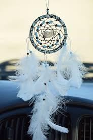 Dream Catcher For Car Mirror Beauteous Rear View Mirror Dream Catcher Small Car Dreamcatcher White