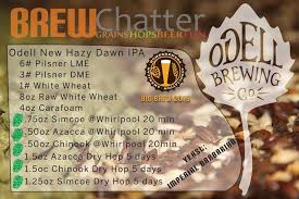 Dme To Grain Conversion Chart Odell New Dawn Hazy Ipa Extract Beer Kit