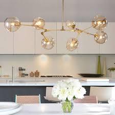 large chandelier lighting modern ceiling lights kitchen lamp glass pendant light