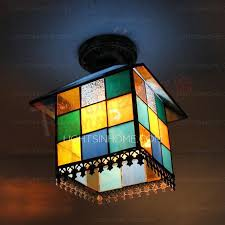 stained glass ceiling light. Stained Glass Ceiling Light