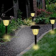 amazing garden lighting flower. Solar Flower Garden Lights Led Powered Top Outdoor Lighting By Od Amazing