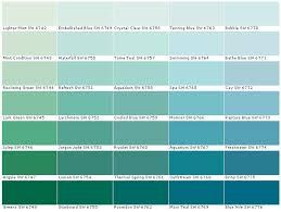 Turquoise Paint Color Chart Paint Color Combinations Blue Green Paints Teal Paint