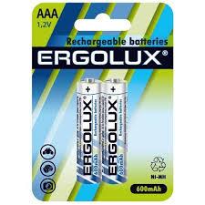 Аккумуляторная батарейка <b>Ergolux AAA</b>-600mAh Ni-Mh BL-2 ...
