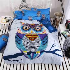 4 3pcs cotton bedding kids owl s boys girls owl bedding set 3d bed linen