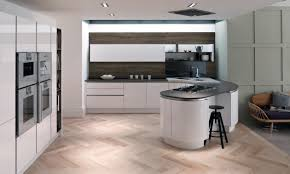 Second Nature Kitchen Doors Tomba Contemporary Handleless Gloss White Door