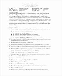 Resume Job Description Examples Fresh Resume Job Responsibilities ...