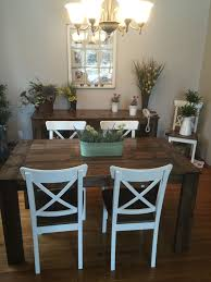 5ft Harvest Table And Chairs In A Jacobean Stain I Like The Solid