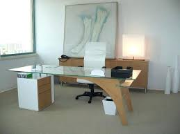 glass top home office desk. Modern Glass Office Desk Top Wooden And White Executive Chair Padded Arms Also Home