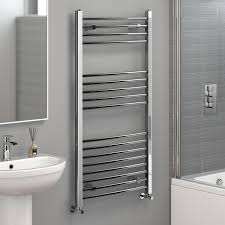 1200x600mm Chrome Curved Towel Radiator Ladder Modern Bathroom NC1200600:  iBathUK: Amazon.co.uk: Kitchen & Home
