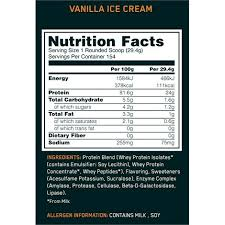 100 whey gold standard nutrition facts