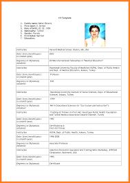 14 Curriculum Vitae Blank Form Download Hvac Resumed