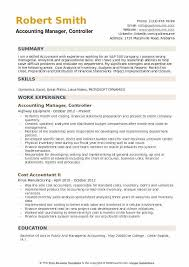 Sample Resume For Accounting Manager Accounting Manager Controller Resume Samples Qwikresume