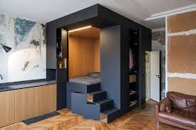 that come to mind when confronted with limited living space is where to put all my stuff here we have a magnificent ingenious solution by batiik studio