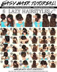 5 Minute Hairstyles For Girls 6 Easy Lazy Hairstyles How To 5 Minute Everyday Hair Styles