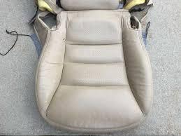 05 06 corvette c6 passenger cashmere perforated seat covers oem