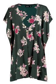 Floral Designs By Raegan Lyst Boohoo Raegan Dark Floral Woven Kimono In Green