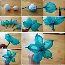 Paper Flower Tissue Paper Diy Beautiful Tissue Paper Flower Using A Golf Ball