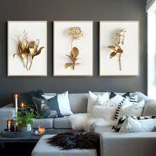 Golden 3D <b>Flower Picture</b> Printed On <b>Canvas</b>,Wall <b>Art Canvas</b> ...