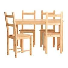 ikea ingo ivar table and 4 chairs solid pine a natural material that ages