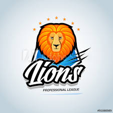 Event Badge Template Lions Sport Team Logo Template Lion Head Mascot Sports Athletic