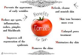 tomato clay mask to treat enlarged pores