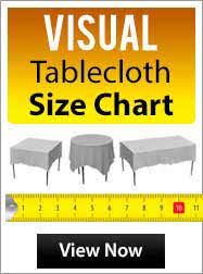 wedding table size chart. chart table size tablecloth runners wedding n