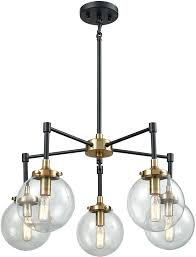 elk 14437 5 boudreaux contemporary matte black antique gold mini ceiling chandelier loading zoom