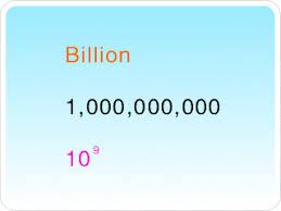 1 billion in standard form billion gif