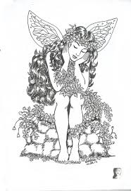 Coloring Books Fairy Pen Ink Drawing