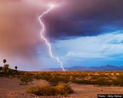 Fan Photo: Lightning Strike by Abby Palmer - Boulder City: Home of Hoover  Dam & Lake Mead