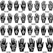 15 Vzorů 1 Pár Rukou Mehndi Henna Vzorník Květin Krajky Tetování Airbrush Malba Pro ženy Ruce Umění Tetování Vzorníky Vodotěsné At Vova