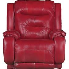 marsala red leather match manual rocker recliner cresent rc willey furniture