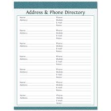 Telephone Directory Sample Address Phone Directory Fillable Printable Pdf Instant