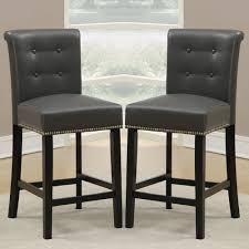 leather bar stools with backs. Bold Idea Counter Height Leather Bar Stools Cool Adjustable With Backs Backrest Walmart Chairsailhead Trim Backless Black Brown