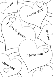 Small Picture I Love You Hearts coloring page Free Printable Coloring Pages