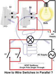 how to wire switches in parallel controlling light from parlallel how to wire switches in parallel