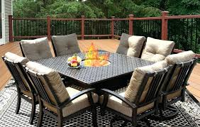 round outdoor dining table for 8. 8 person round outdoor dining table seat square 36x55 for