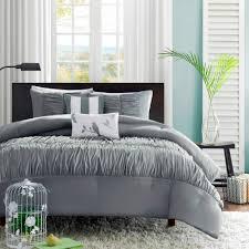 colormate piece mirimar comforter set  gray