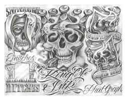 эскиз или трафарет для татуировки Tattoo Flash Gangster Flash On Cddvd 200 Sheets With Line Work