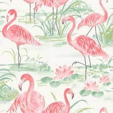 NuWallpaper Pink Flamingo Beach Peel ...