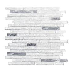 ice pencil 11 5 in x 11 875 in x 8 mm glass metal mosaic