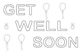 Get Well Soon Coloring Pages Get Well Soon Coloring Pages For Kids