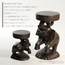 suitable for アジアンスキ great satisfaction in the presence carved elephant small soto gadgets figurine elephant ornament accessory display wooden
